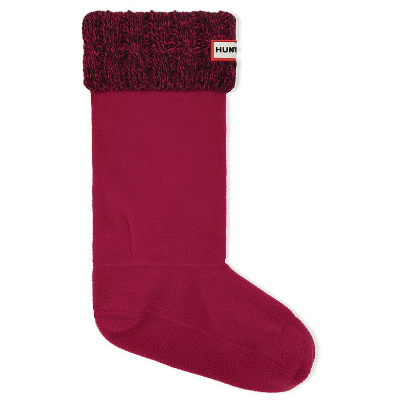 1dfbfc117bb95 Hunter Unisex Original Six-Stitch Cable Boot Socks (Military Red/Dulse