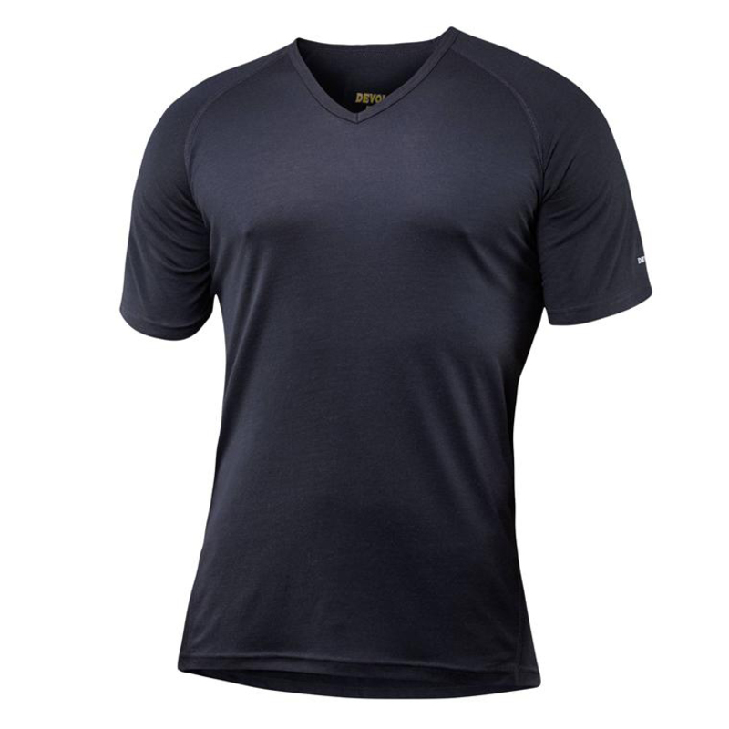 e608ca23d14e Devold Mens Breeze Short Sleeve V-Neck T-Shirt (Black) | Sportpursuit.