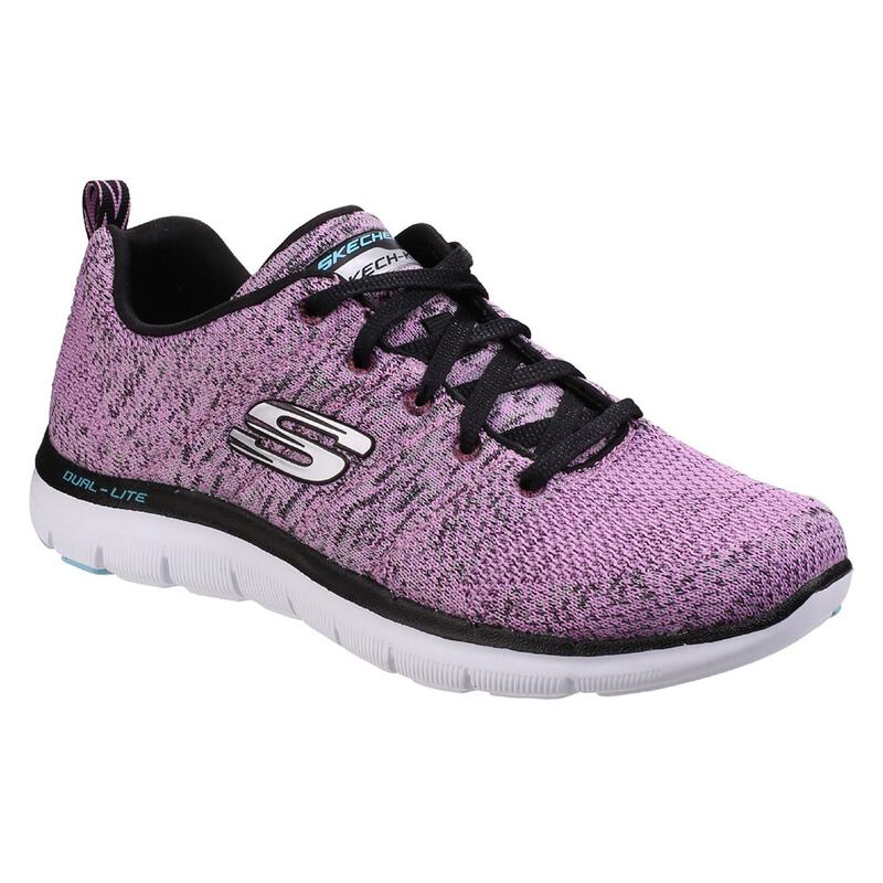 5065f159f86a9 Skechers Womens Flex Appeal 2.0 High Energy Trainers (Lavender ...