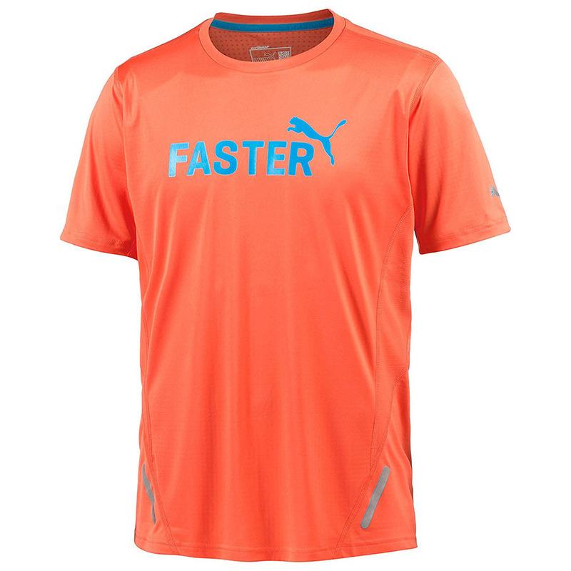 ab6476a43 Puma Mens Pr Pwrcool Graphic Short Sleeve Top (Orange) | Sportpursuit.