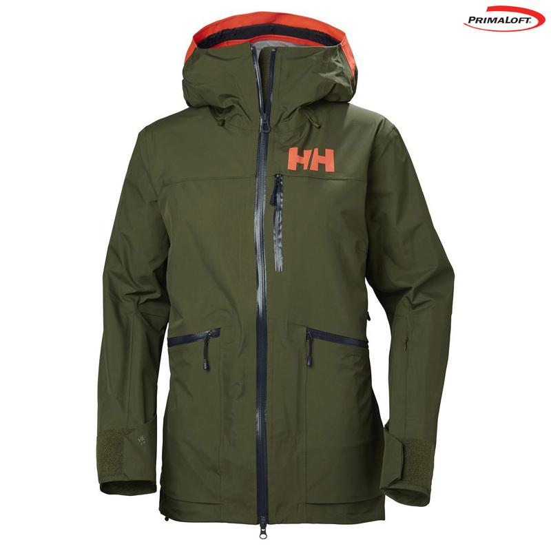 Helly Hansen Womens Kvitegga Shell Ski Jacket (Ivy Green)   Sportpursu 7225f9ea525b