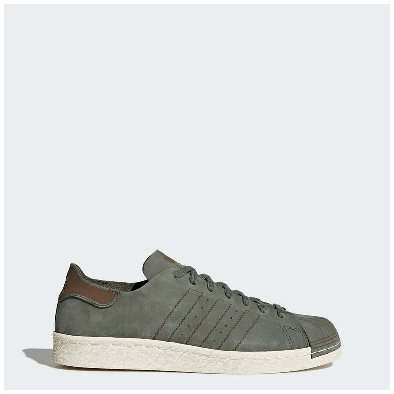 7a5ca0c7d1419 Adidas Mens Superstar 80s Decon Shoes (Base Green Base Green Noble Red