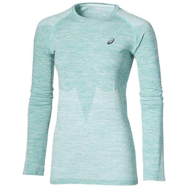 5889eb63 Asics Womens Seamless Long Sleeve Top (Green) | Sportpursuit.com