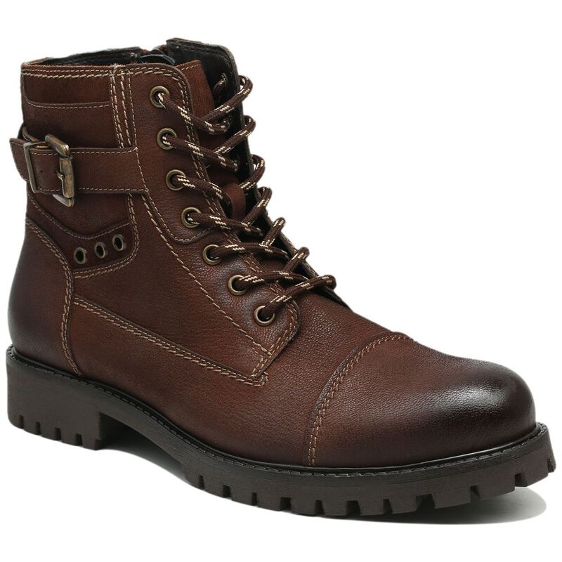Colwood Mens Owen Military Boots (Reddish Brown