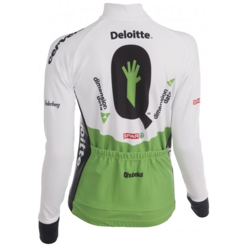 16b3cd7bc Womens 2018 Performance Fit Tempest Long Sleeve Jersey (Green White Black)