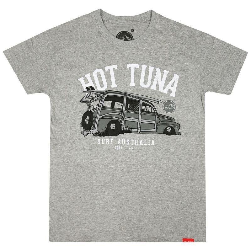 Men/'s T-Shirt Grey Hot Tuna Gold Coast Emblem