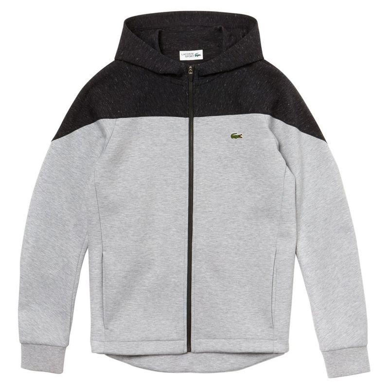 new concept 157cc bbe47 Lacoste Mens Hooded Fleece Zip Sweatshirt (Foliosa Chine ...