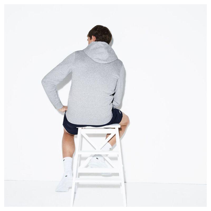 połowa ceny buty na tanie szczegółowy wygląd Lacoste Mens Sport Tennis Hoodie (Silver Chine/Navy Blue ...