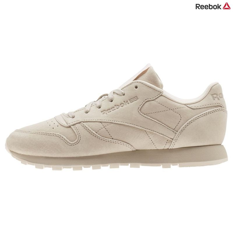 e1bffb4c0cb765 Reebok Womens Classic Leather Tonal NBK Shoes (Beige Sand Stone Pale P