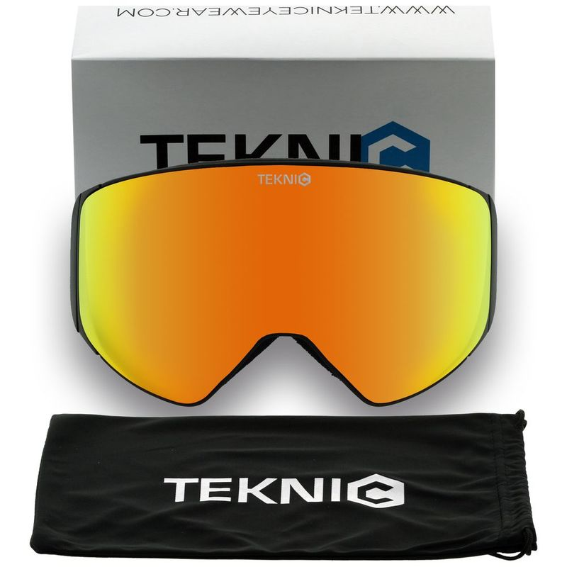 66ac0b86cb6 Teknic HX025 Ski Goggles (Black Red)