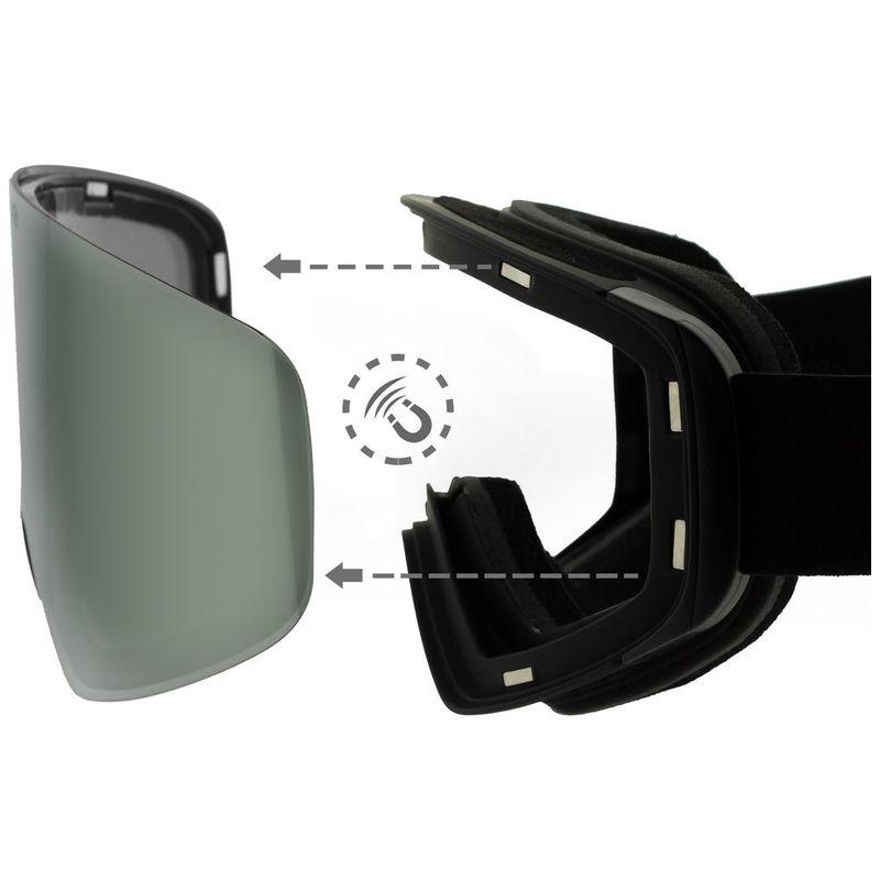 ccfc83f00b4 Teknic HX025 Ski Goggles (Black Silver)