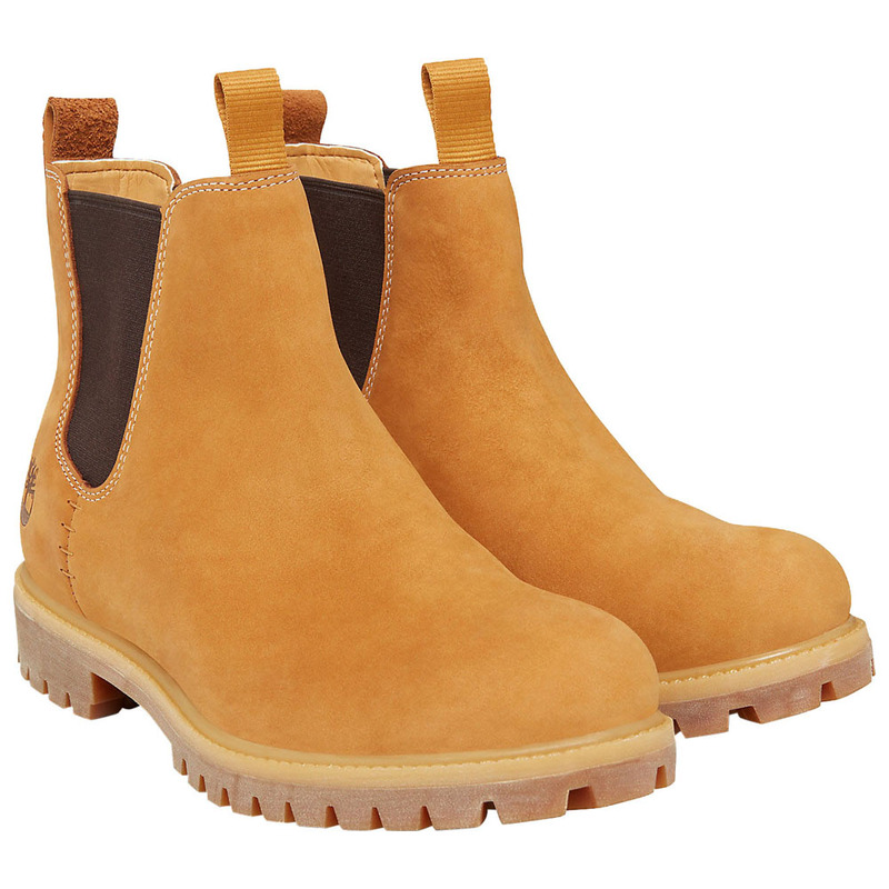 8085eebc935 Timberland Mens Premium 6 Inch Chelsea Boots (Wheat) | Sportpursuit.co