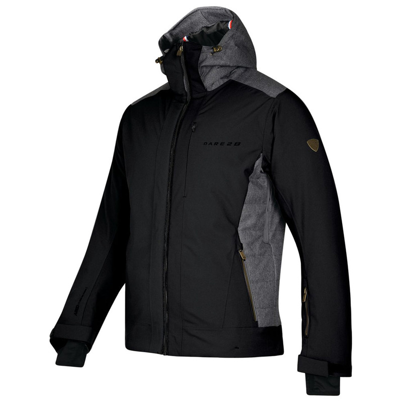 07a3bdc7ccad Dare2B Mens Rendition Ski Jacket (Black Charcoal)