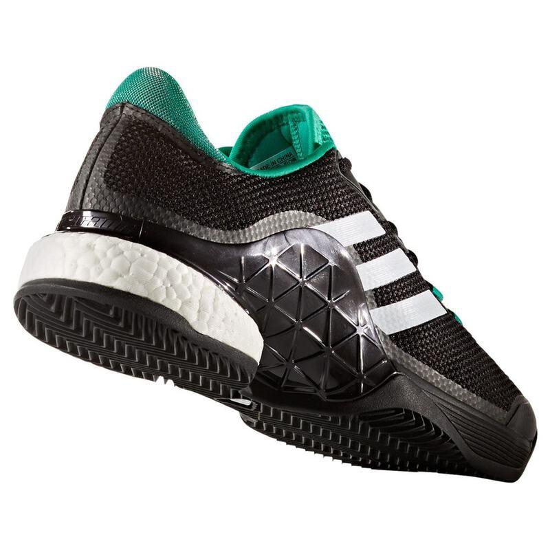 Adidas hombre Barricade 2017 Boost Clay zapatos de tenis (Core Negro / blanco / C