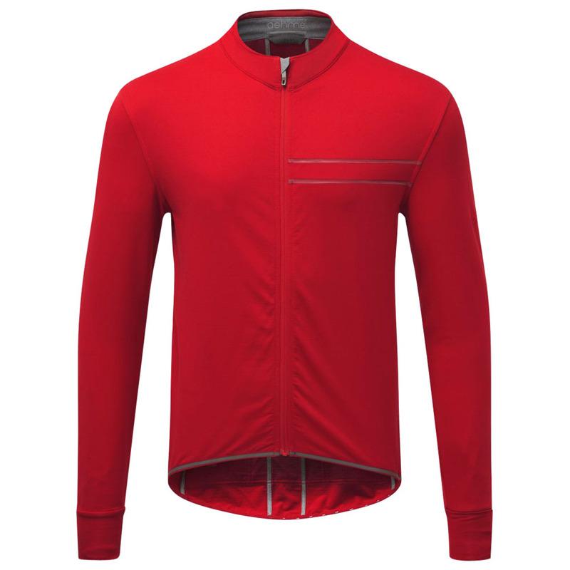 Ashmei Mens Cycle Midlayer Merino Jersey (Red)  46b4003ba