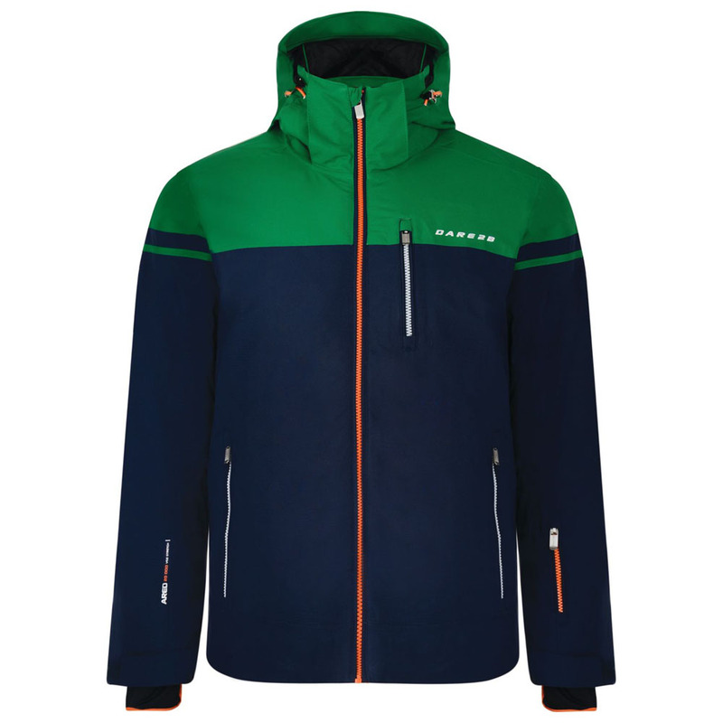 Dare2B Mens Graded Jacket (Outer Space Blue Highland Green)  025ad7141