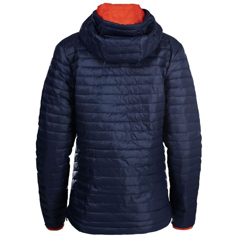 ISOBAA Womens Merino Wool Insulated Jacket (Navy/Orange