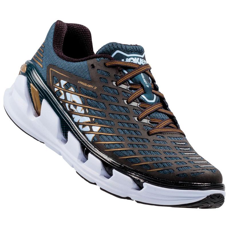53b064d1b362 Hoka One One Mens Vanquish 3 Shoes (Midnight Navy Metallic GoLong Dist