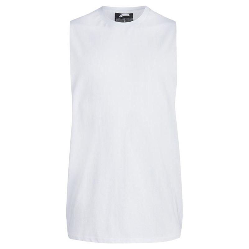 8e508eec Pursue Fitness Mens BodyBuilding 'Cut Off' Tank (White) | Sportpursuit
