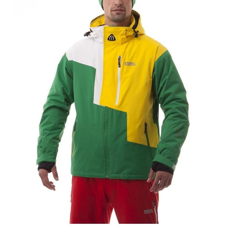 half off 6266d dd1ae Nordblanc Mens Performance Winter Sport Jacket (Green/Yellow ...