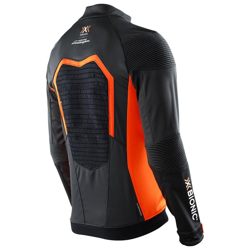 X Bionic Mens Lamborghini Freeride Eq Jacket Black Orange Sportpur
