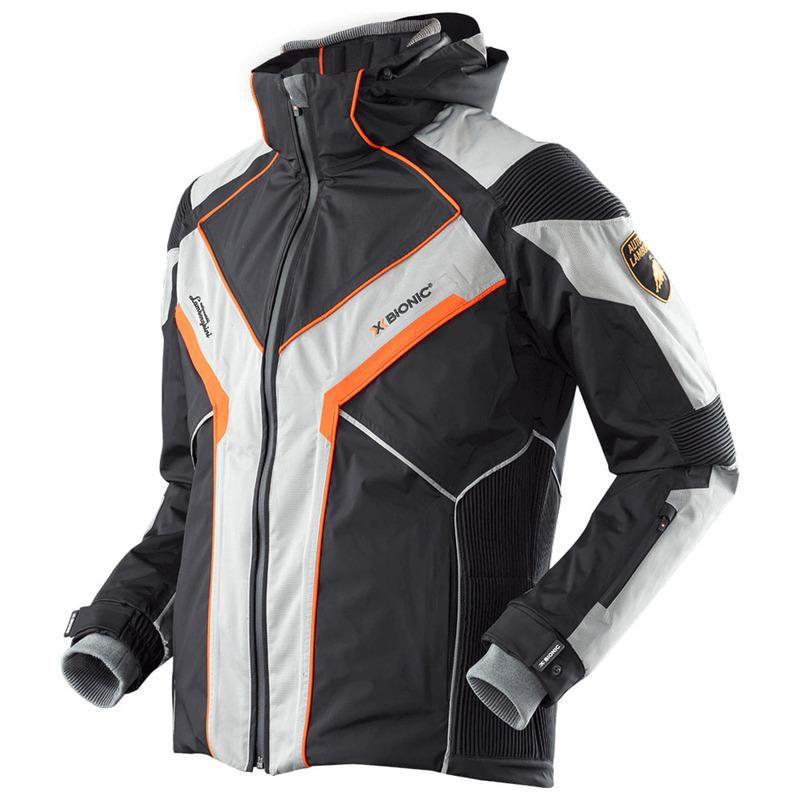 X Bionic Mens Xitanit Lamborghini Ski Jacket Black Silver Orange S