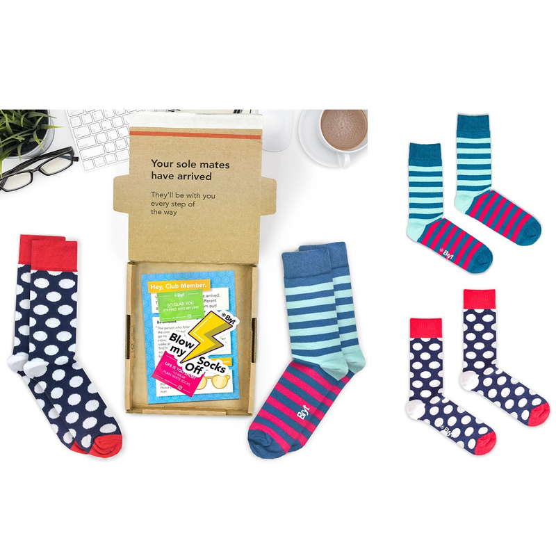 Bryt 6 Month Socks Subscription - 2 Pairs Per Month