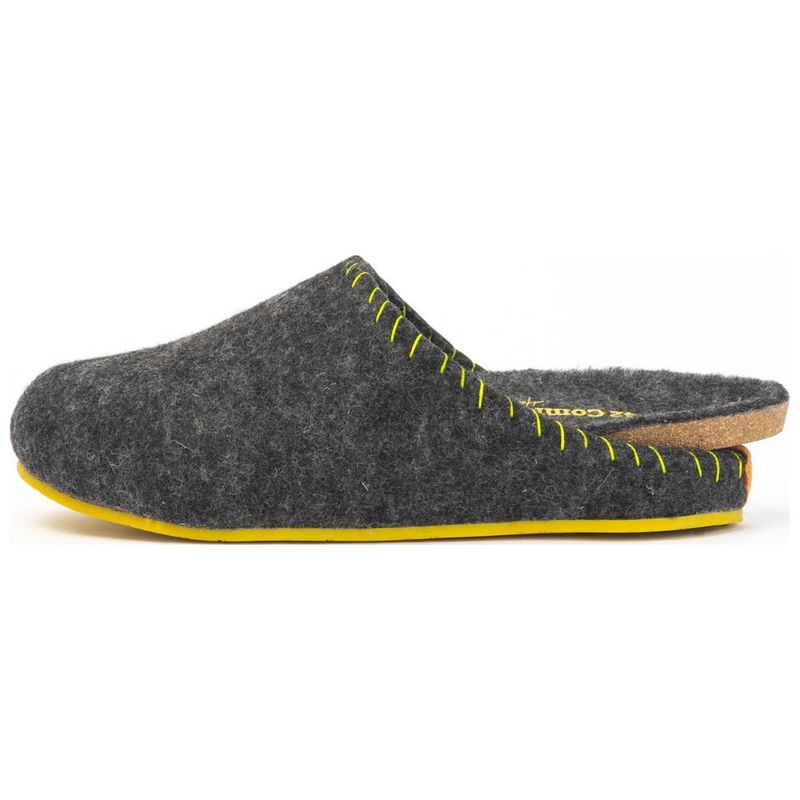 643d556689b Comfortfusse Mens Pine Slippers (Dark Grey)