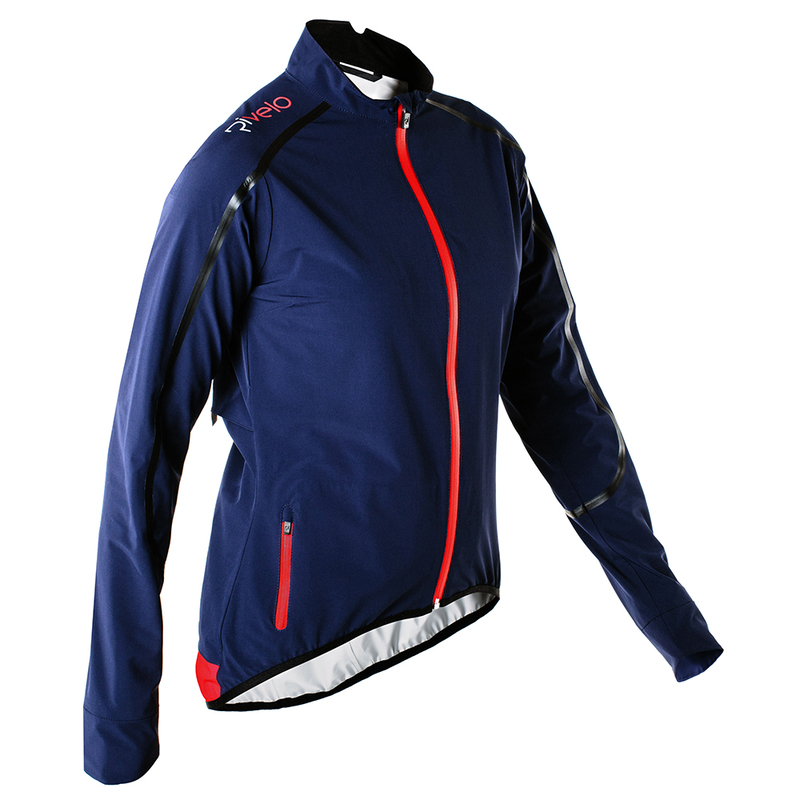 e370c78a5 Rivelo Womens Larkstone High Performance Rain Jacket (Navy/Red) | Spor