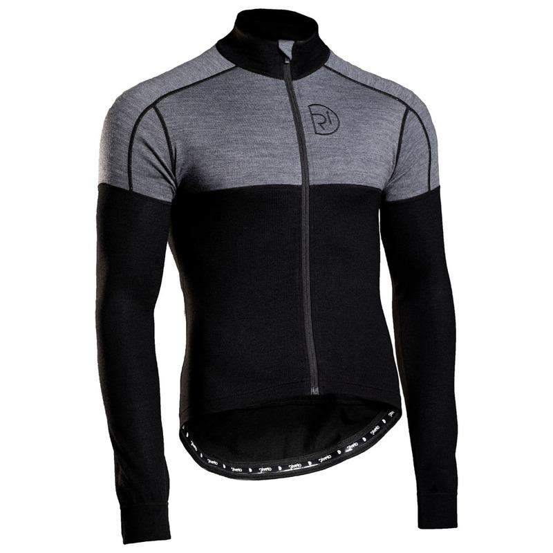 Rivelo Mens Lydford Merino Long Sleeve Jersey (Black Charcoal)  c5200bbb7