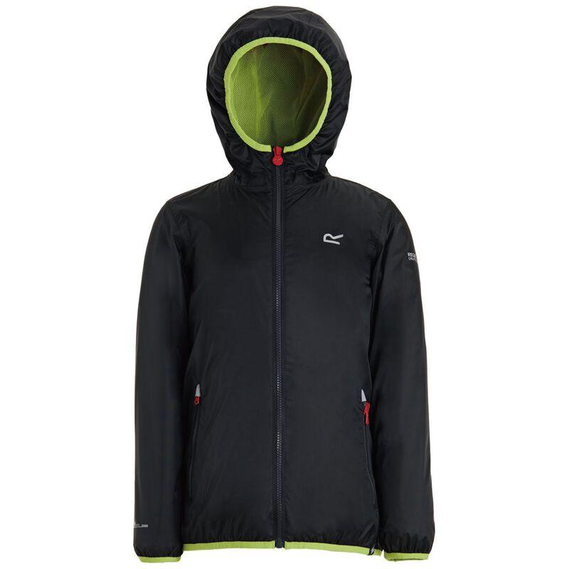 4d09d3d5d2c Regatta Kids Lever II Waterproof Jacket (Black)   Sportpursuit.com