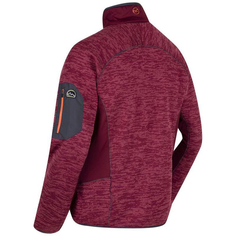 6ed065cb2123 Regatta Mens Collumbus III Fleece Jacket (Spiced Mulberry Spiced Mulbe