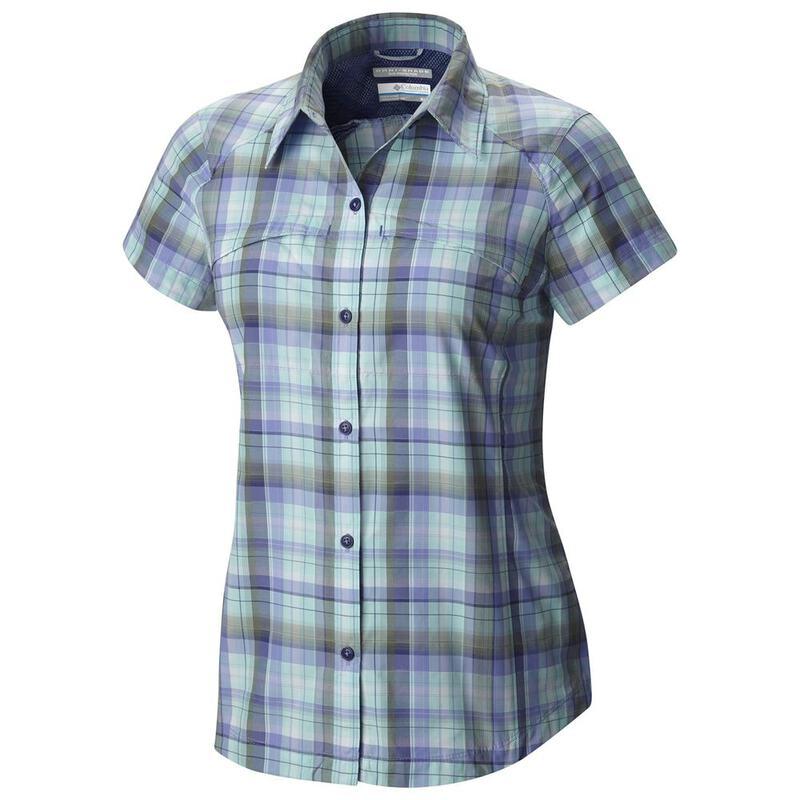 f69ef71dcbb Columbia Womens Silver Ridge Short Sleeve Shirt (Skyward Dobby ...