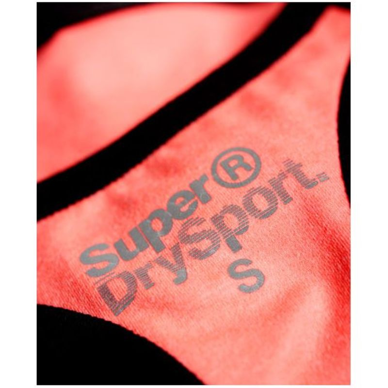 8f9559e058 Superdry Womens Superdry Core Gym Bra (Fluorescent Coral Grit)