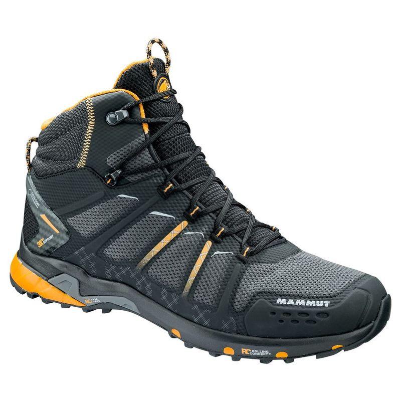 Mammut AENERGY MID GTX - Walking boots - black/dark radiant IyZB7WCEA