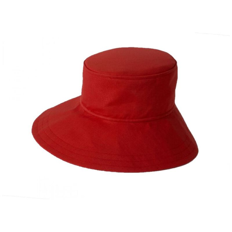 2f80495a0d5 Tilley Womens TH14 Floppy Broad Brim Hat (Red)