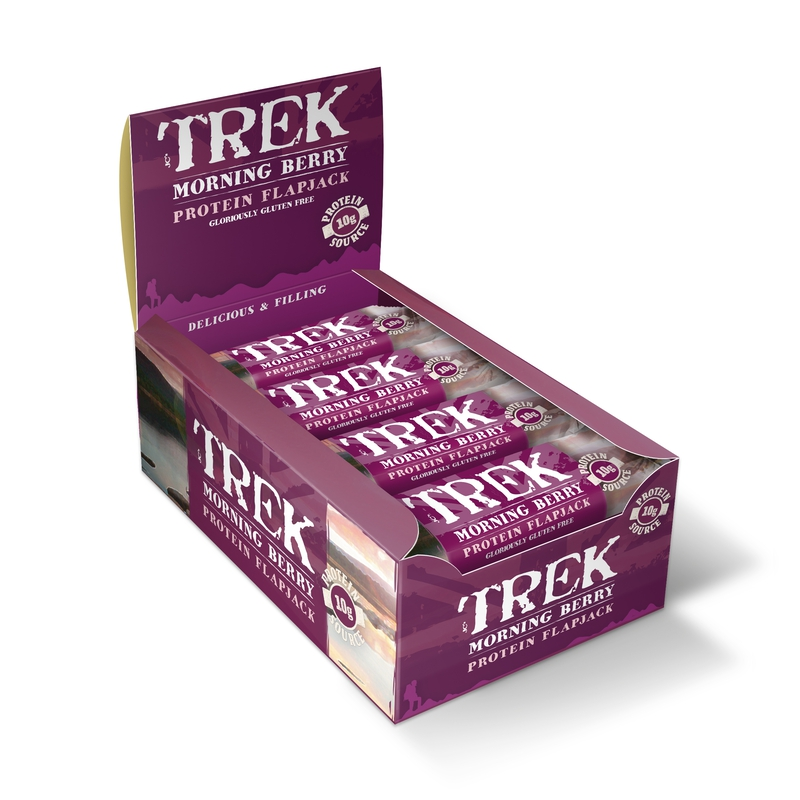 TREK Protein Flapjacks (16 x 55g - Morning Berry)