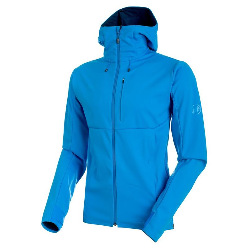 new style 6176f b7eac Mammut Mens Ultimate V Softshell Hooded Jacket (Imperial/Jay ...