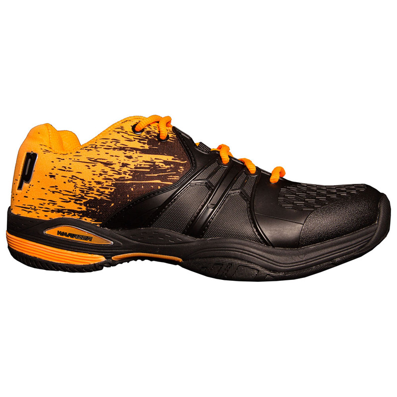89b513c2c447 Prince Tennis Mens Warrior Lite Tennis Shoes (Black Orange)