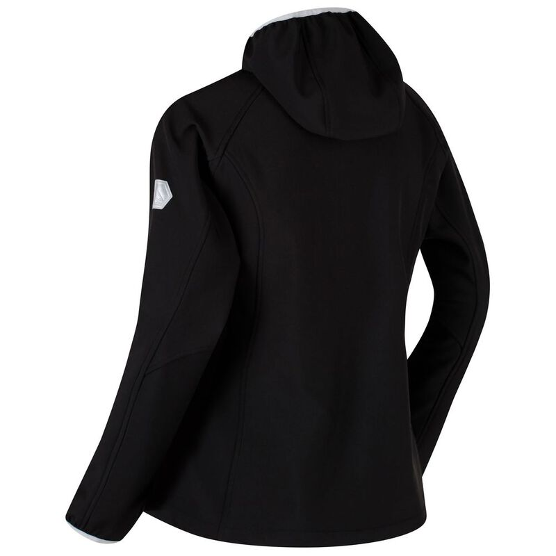 4de7ada9ef7 Regatta Womens Arec II Softshell Jacket (Black Light Steel)